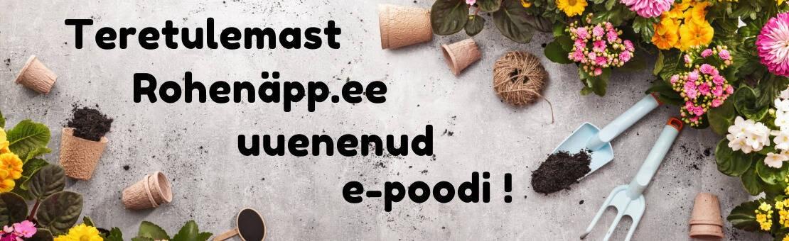 Teretulemast Rohhenäpp.ee uude e-poodi